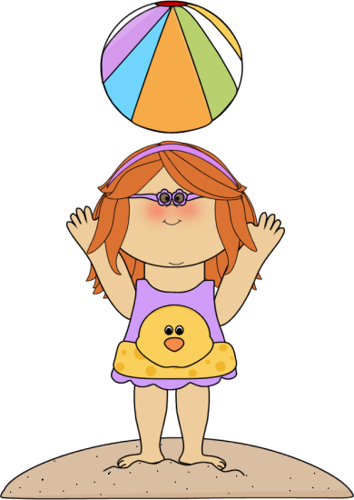 Beachball clipart floaty. Pink megaphone ladies at