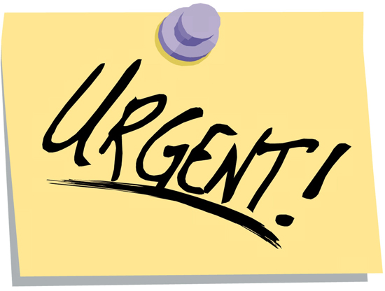 attention clipart urgent