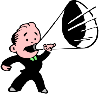 Megaphone man png. Free vintage cliparts download