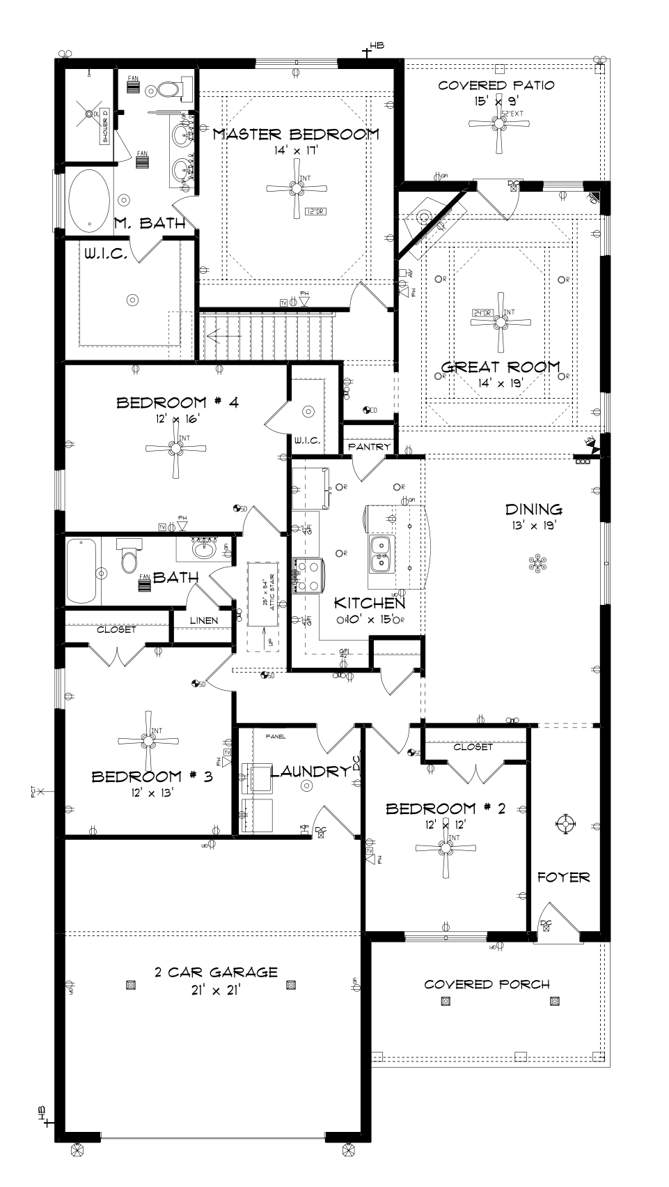 Attic drawing layout. Savannah main floor by