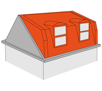 Stuck for loft conversion. Attic drawing sloped roof jpg freeuse library