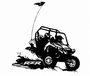 Atv clipart rzr. Vector of offroad side