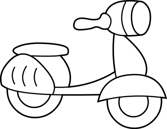 Atv drawing coloring page. Mini scooter free clip