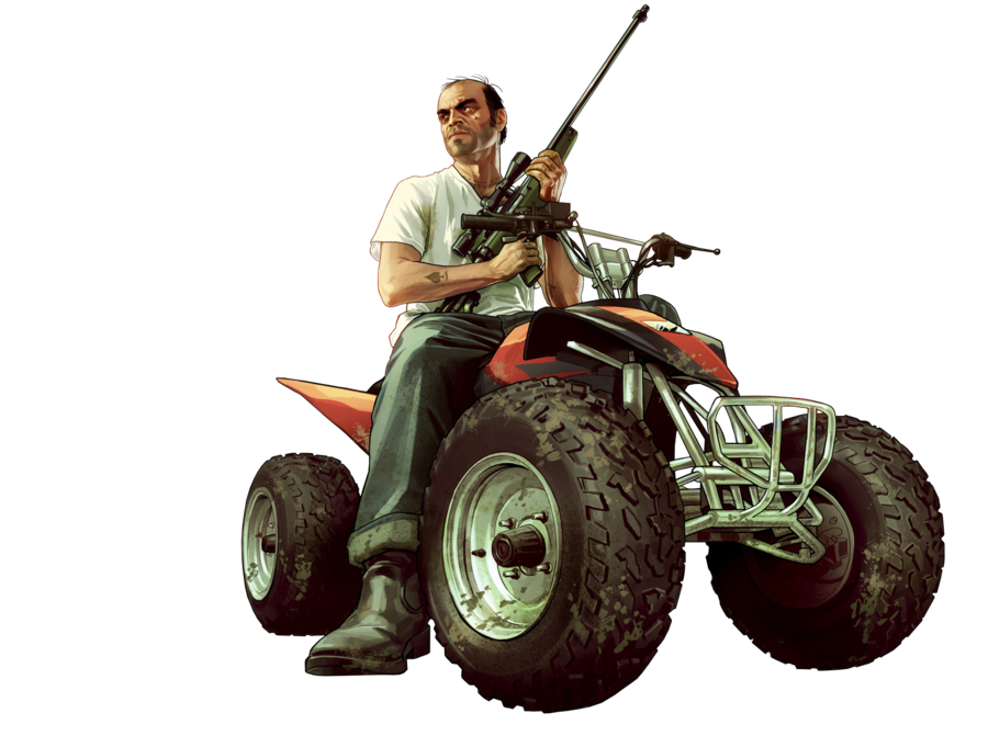 Atv drawing gta. Trevor phillips render by