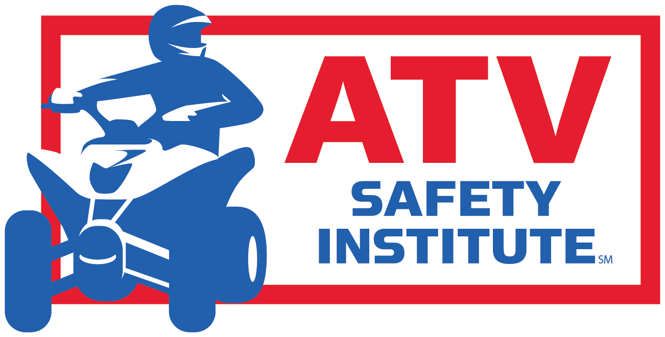 Atv drawing logo. Safety rules for riding
