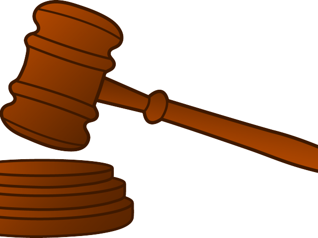 Transparent hammer jury. Clipart for free download