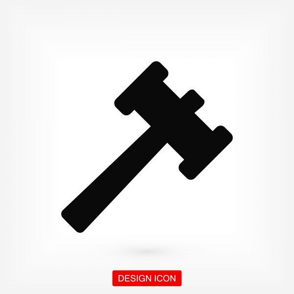 Auction icon. Stock vector illustration