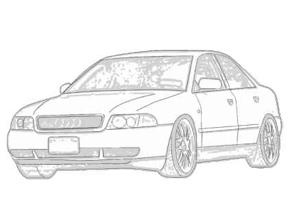 audi drawing a4