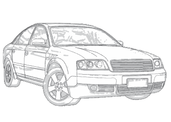audi drawing a8