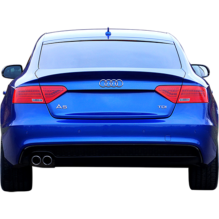 Audi drawing realistic. A blue in parking