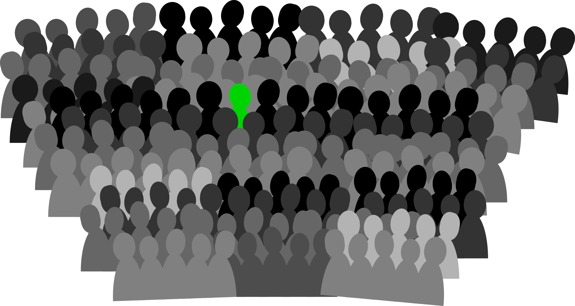 person svg crowd silhouette