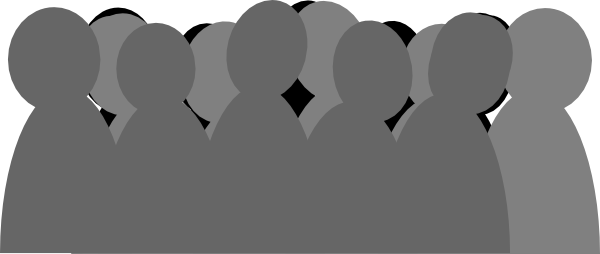 Photos crowds images gallery. Crowd clipart graphic black and white download