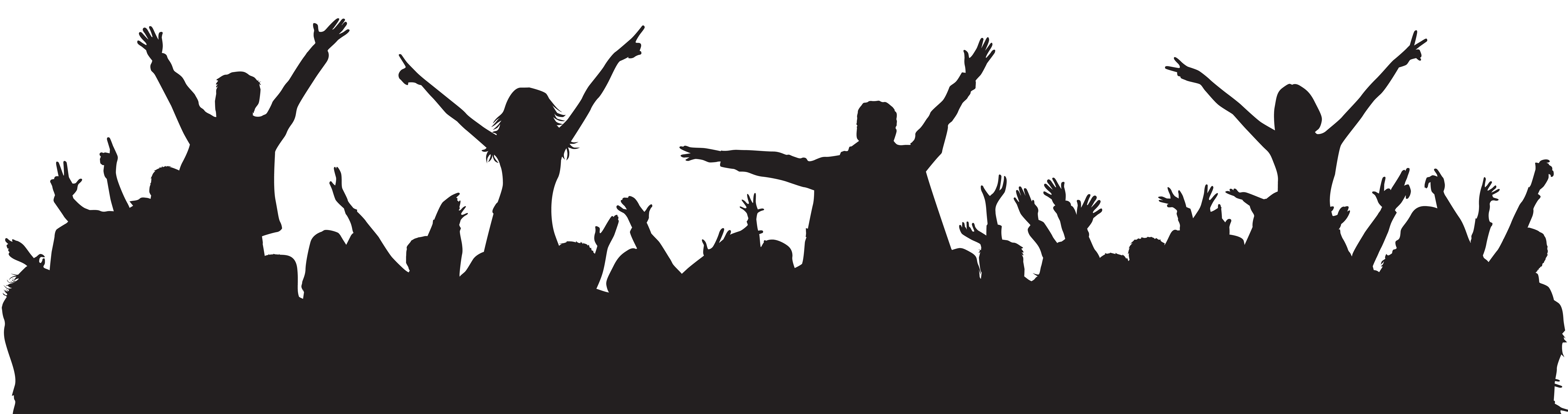 Party silhouette png. People clip art image