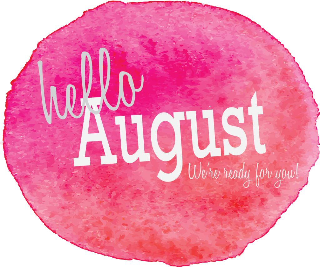 August clipart. Hello images with nature
