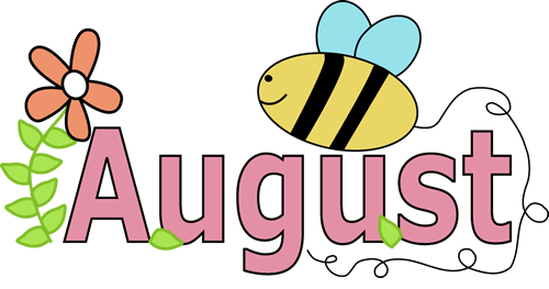 August clipart. Pictures