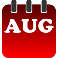 August clipart aug. Download category png and