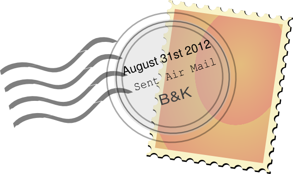August clipart aug. Postal mark clip art