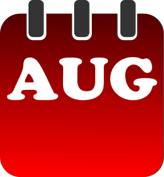 August clipart aug. Calendar clip art at