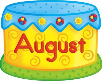 August clipart birthday cake. Pinterest