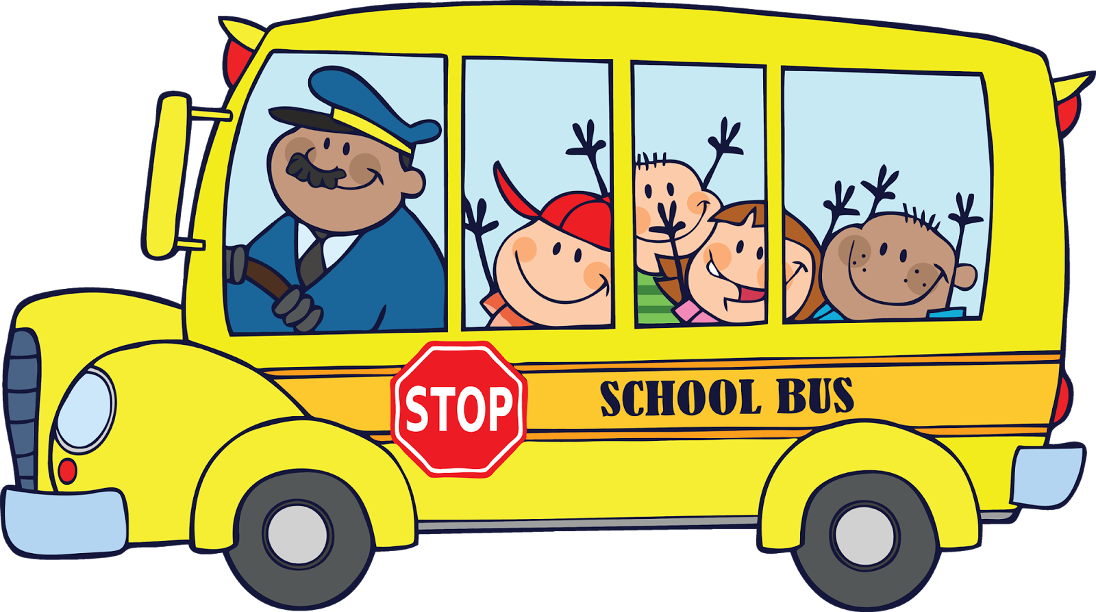 August clipart bus safety. Wardens road if students