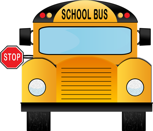 August clipart bus safety. Art contest butler county