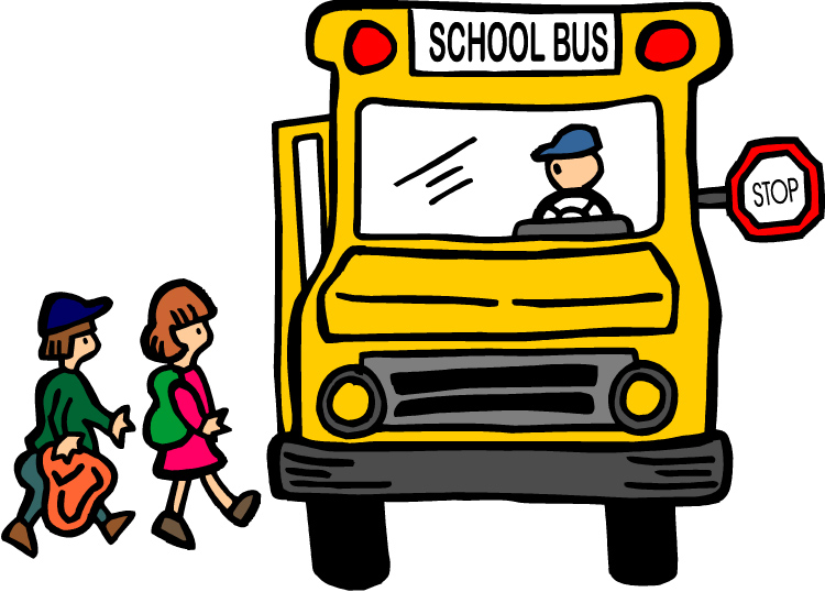 August clipart bus safety. School stop clip art