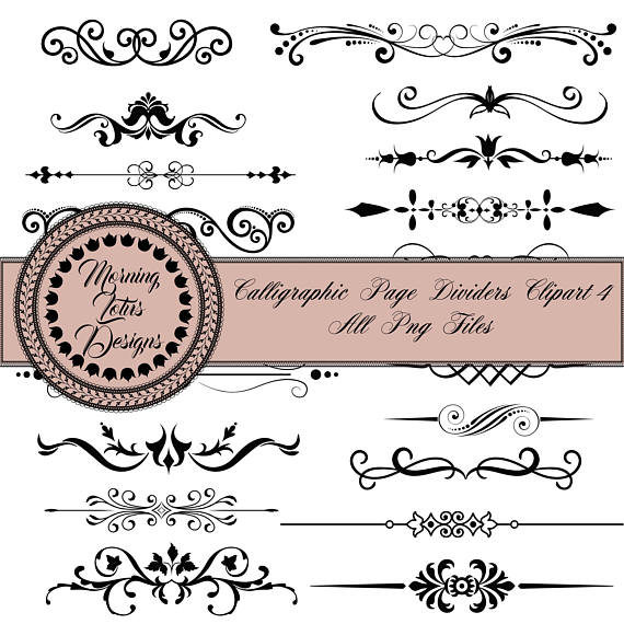 August clipart divider. Clip art dividers digital