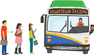 August clipart front bus. Happy try transit month
