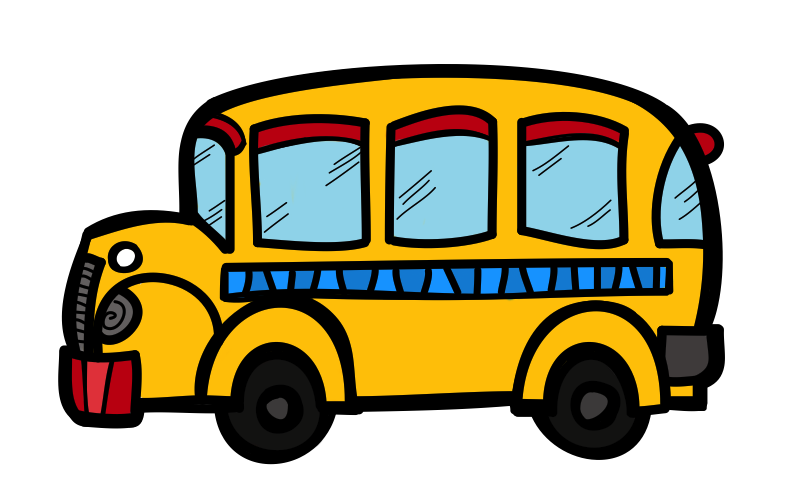 August clipart front bus. The creative chalkboard free