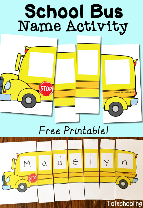 August clipart front bus. School name activity with