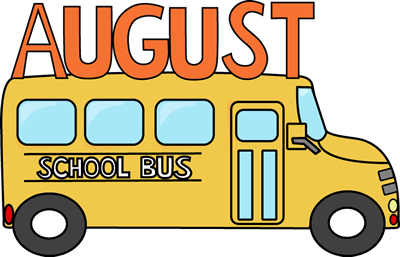 August clipart front bus. Cute school clip art
