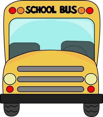 August clipart front bus. Best clip art