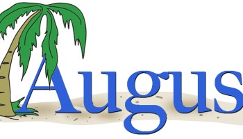 August clipart monthly. Free printable may calendar