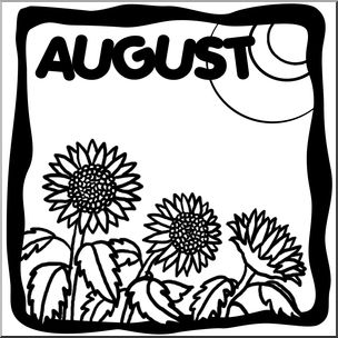 August clipart monthly. Clip art month graphic