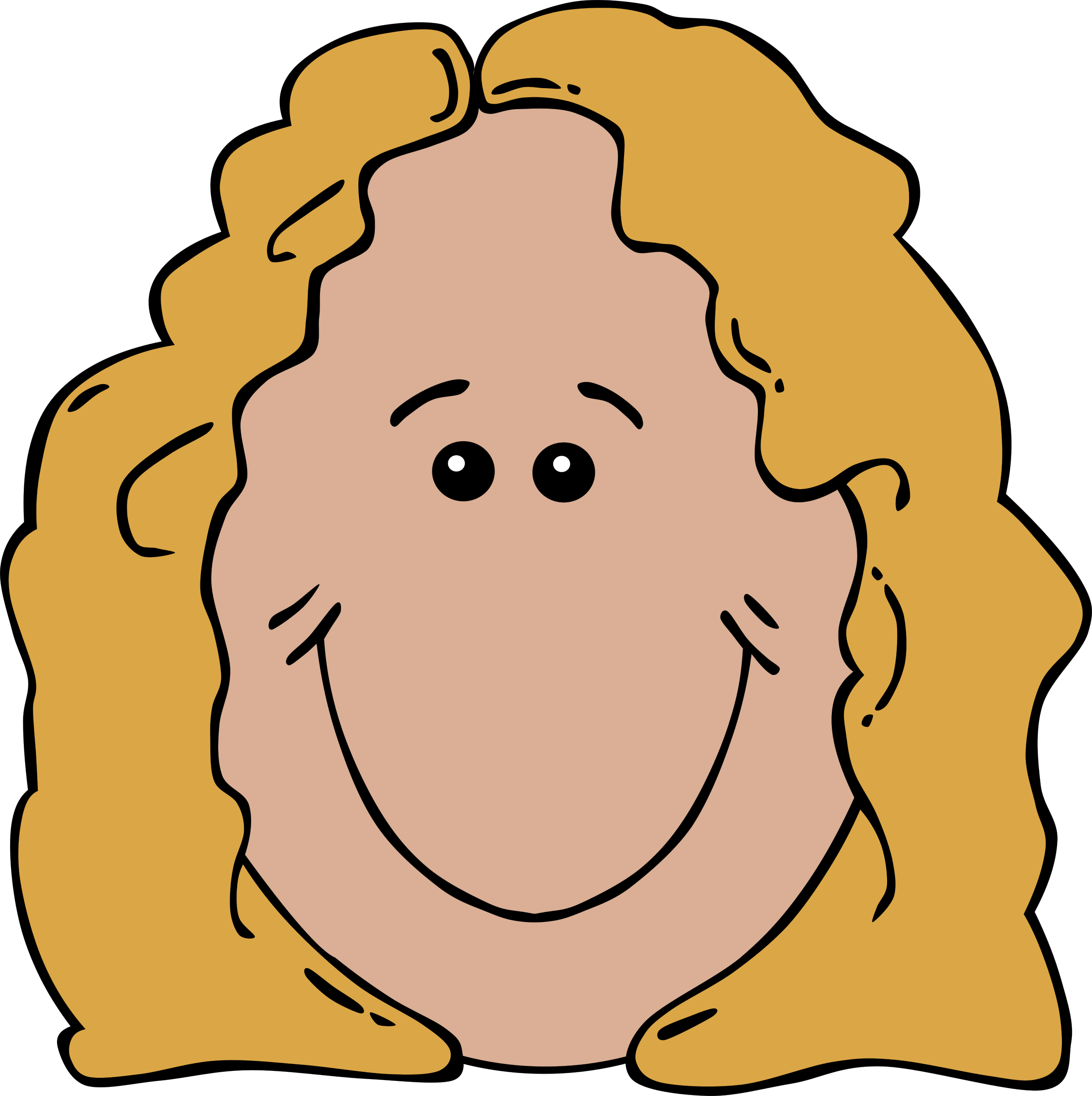 Aunt clipart kind lady. Face cartoon big image