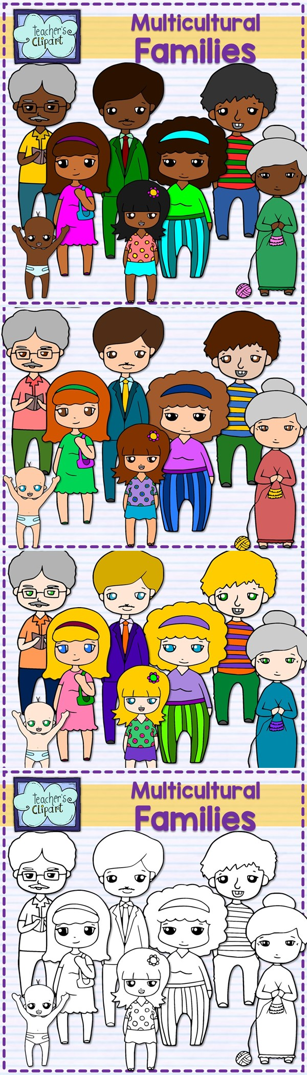 Aunt clipart teacher. Family multicultural units and