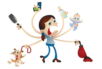 aunt clipart working mom
