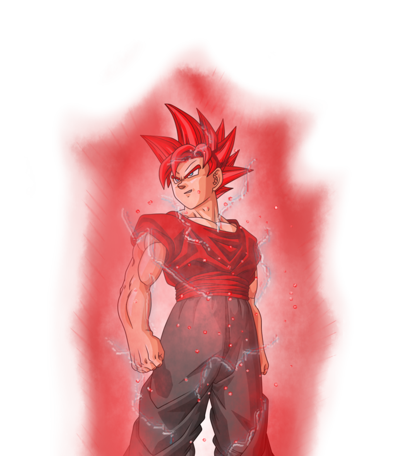 Aura drawing red. Dede ssblood by xde