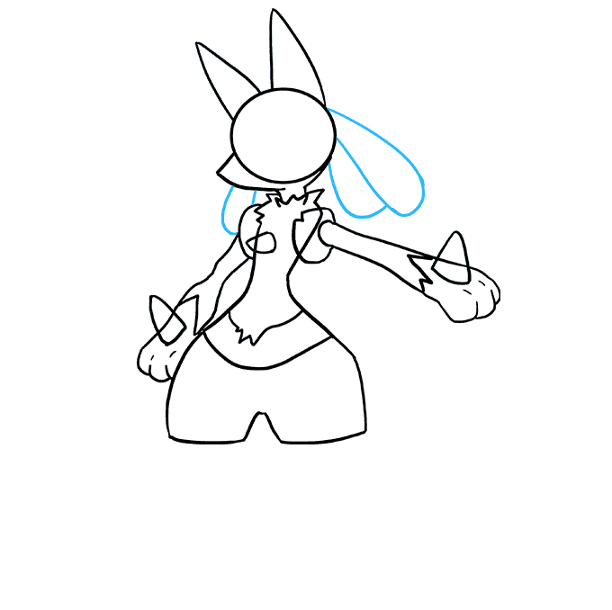 Teardrops drawing shoulder. How to draw lucario