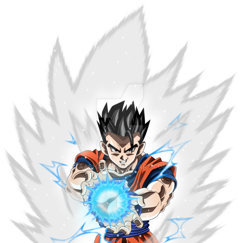 aura drawing ultimate gohan