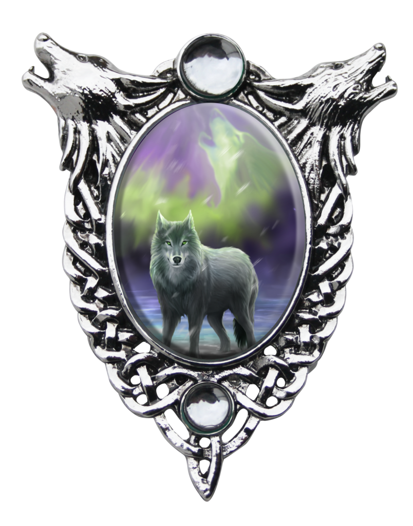 Aura drawing wolf. Cameo by anne stokes