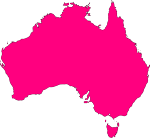 Australia clipart outline. Pink clip art at