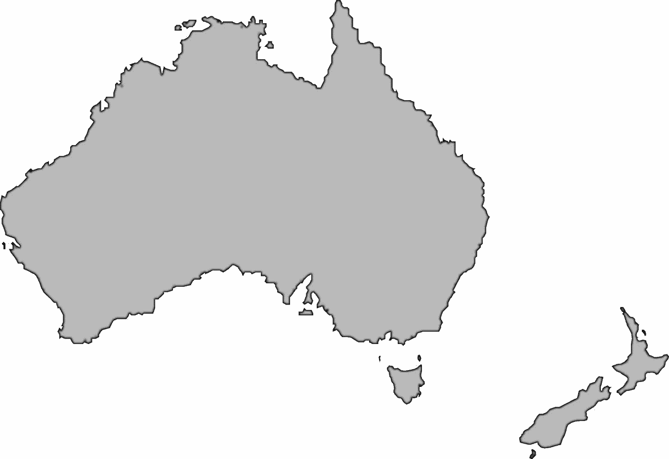 Australia clipart large. Bw geography continents download