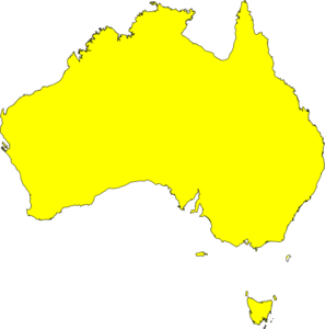 Australia clipart map. Yellow clip art at