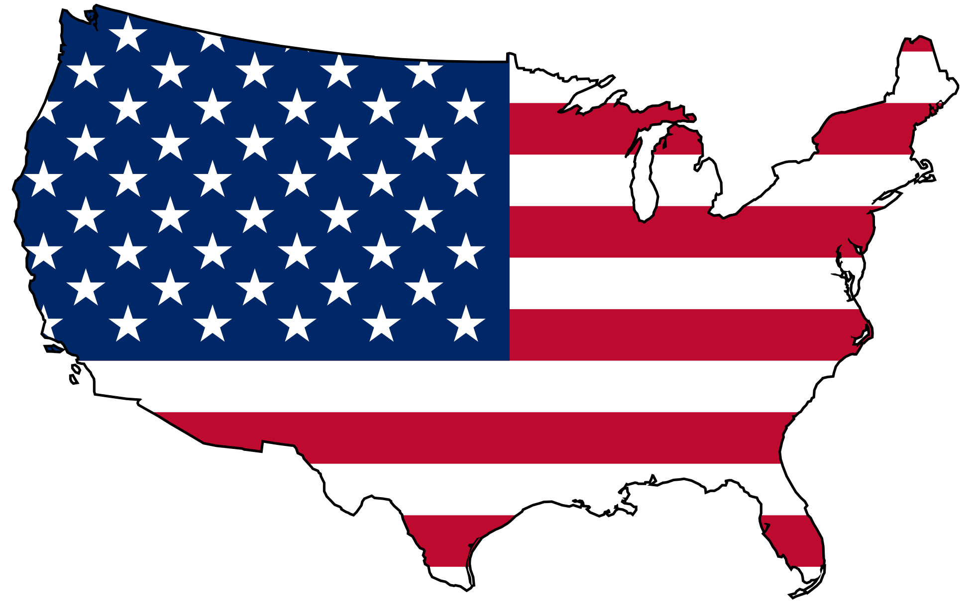 American clipart symbol us. Free pictures of map