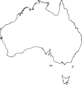Australia clipart map. White clip art at
