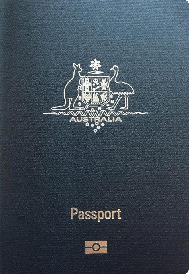 Australia clipart passport. Scan australian cover with