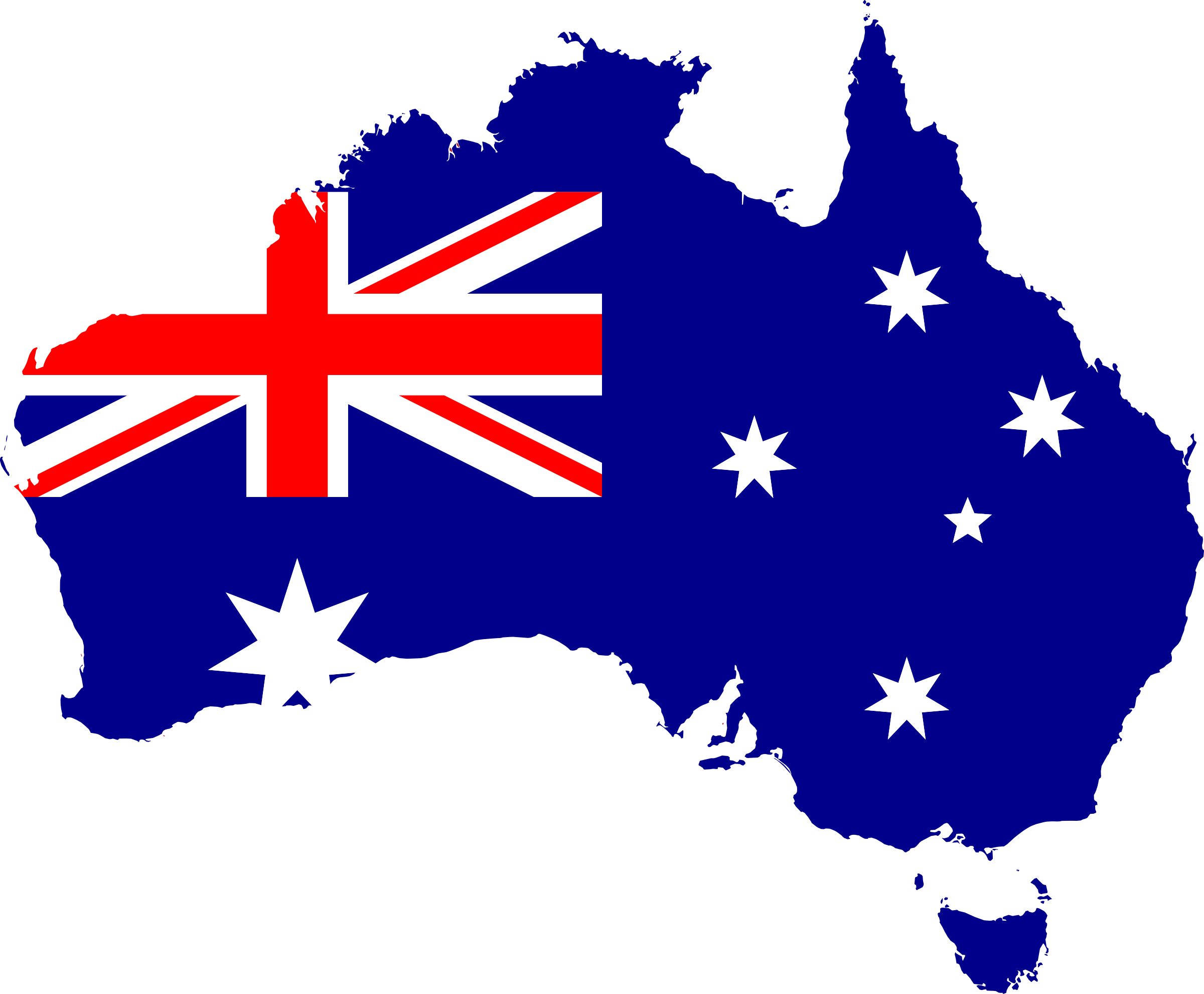 australia transparent flag