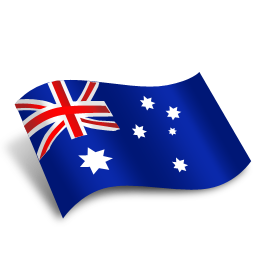 Australia flag png. Icon download not a