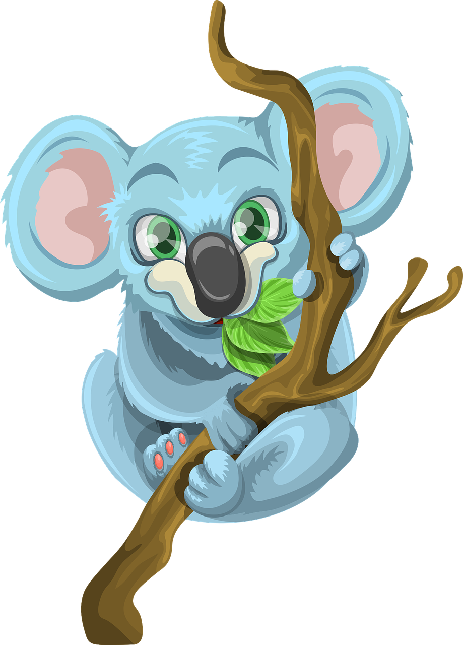 Australia transparent cartoon. Koala animal wood image